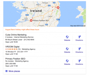 search results for keyword seo agency