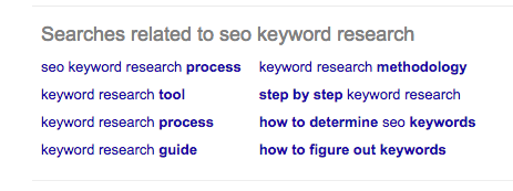 More Google keyword suggests