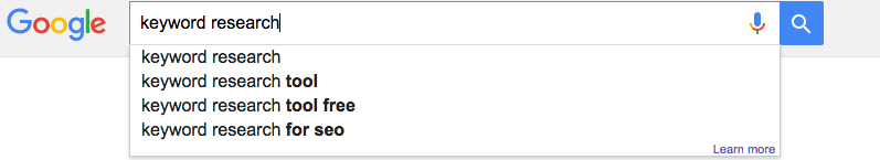Google suggest